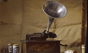 An early Edison phonograph